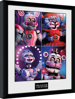 Five Nights at Freddys - Sister Location Quad Poster encadré