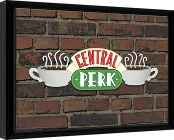 Friends - Central Perk Brick Poster encadré