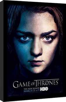 GAME OF THRONES 3 - arya Poster encadré