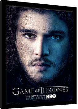GAME OF THRONES 3 - jon Poster encadré