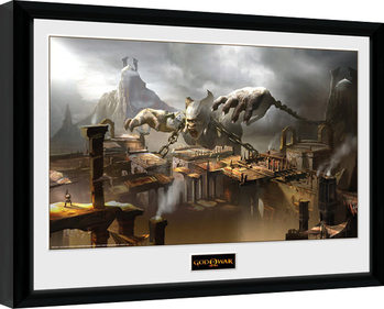 God of War - Concept Art Canyon Poster encadré