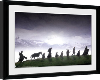 Le Seigneur des anneaux - Fellowship Poster encadré