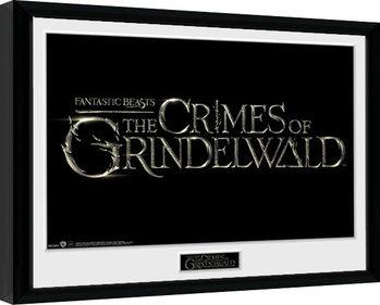 Les Animaux fantastiques: Les Crimes de Grindelwald - Logo Poster encadré