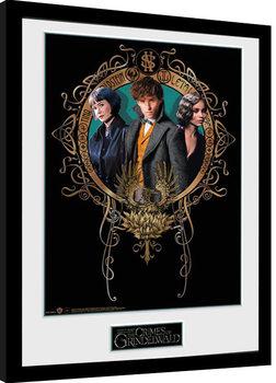 Les Animaux fantastiques: Les Crimes de Grindelwald - Trio Poster encadré