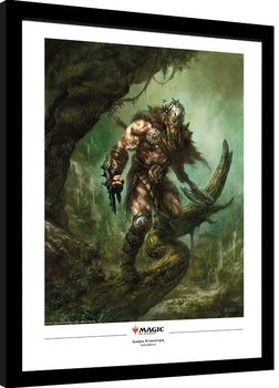 Magic The Gathering - Garruk Wildspeaker Poster encadré