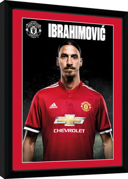 Manchester United - Zlatan Stand 17/18 Poster encadré