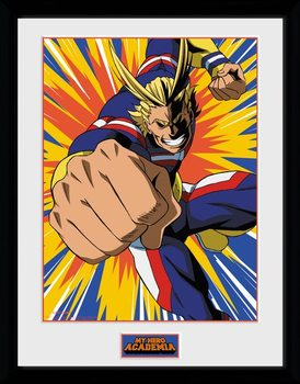 My Hero Academia - All Might Action Poster encadré