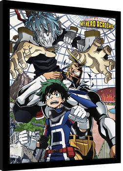 My Hero Academia - An Enemy Threat Poster encadré