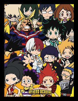 My Hero Academia - Chibi Characters Poster encadré