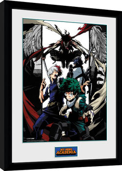 My Hero Academia - Heroes and Villains Poster encadré