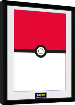 Pokemon - Pokeball Poster encadré
