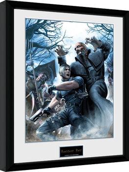 Resident Evil - Leon Poster encadré