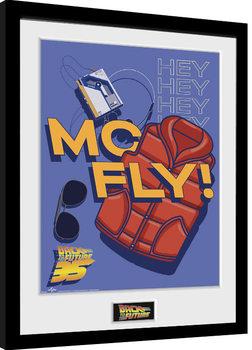 Retour vers le futur - 35th McFly Poster encadré