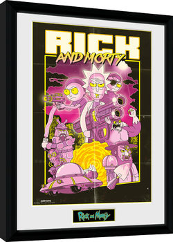 Rick and Morty - Action Movie Poster encadré