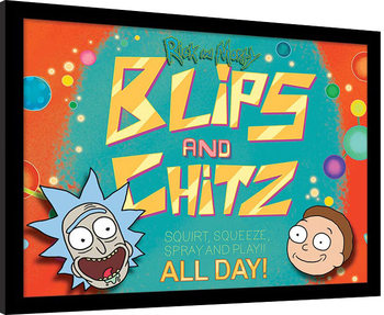 Rick and Morty - Blips and Chitz Poster encadré