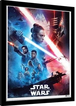 Star Wars: L'ascension de Skywalker - Saga Poster encadré