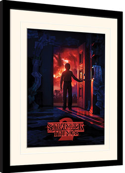 Stranger Things - Doorway Poster encadré