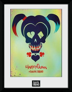 Suicide Squad - Harley Quinn Skull Poster encadré