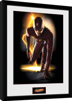 The Flash - Speed Poster encadré