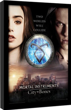 THE MORTAL INSTRUMENTS : LA CITÉ DES TÉNÈBRES – two worlds Poster encadré