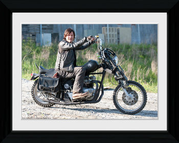 THE WALKING DEAD - Daryl Bike Poster encadré