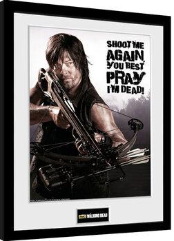 The Walking Dead - Daryl Shoot Me Poster encadré