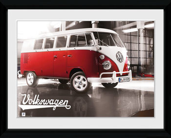 VW Camper - Warehouse Poster encadré