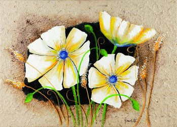 Anemone in frame Reproduction d'art