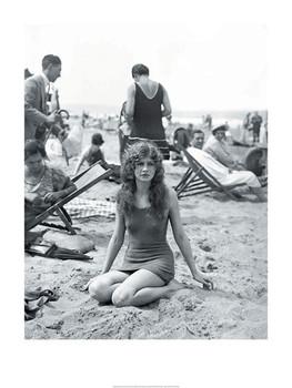 Baigneuse sur la plage Reproduction d'art