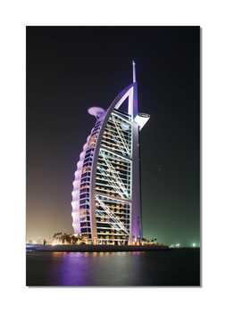 Burj Al Arab at night Tableau Multi-Toiles