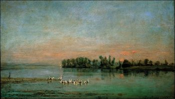 C.F.Daubigny - La Mattina Reproduction de Tableau