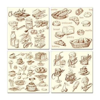 Café and Bakery Tableau Multi-Toiles