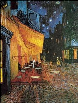 Café Terrace at Night - The Cafe Terrace on the Place du Forum, 1888 Reproduction de Tableau