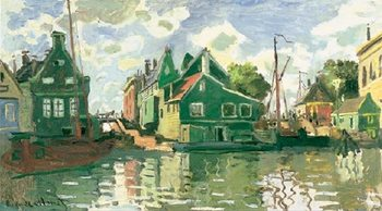 Canal in Zaandam, 1871 Reproduction de Tableau