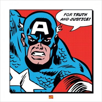Captain America - For Truth and Justice Reproduction d'art