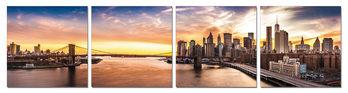 City sunrise Tableau Multi-Toiles