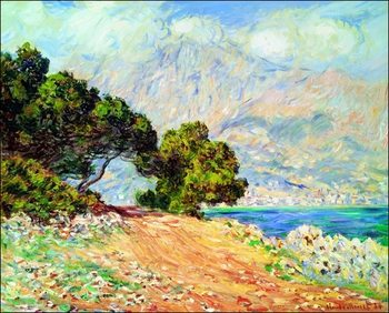 Claude Monet - Cap Martin , Near Menton Reproduction de Tableau