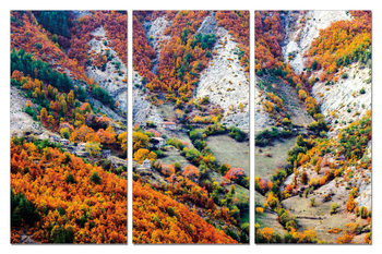 Color mountainous landscape Tableau Multi-Toiles