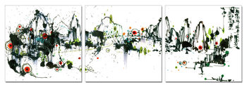 Colorful Abstraction Tableau Multi-Toiles