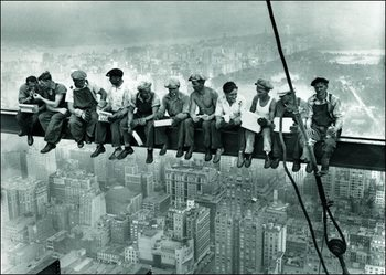 Ebbets - Lunch On a Skyscraper New York City Reproduction de Tableau