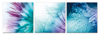 Flower - Game of Blue and Purple Tableau Multi-Toiles