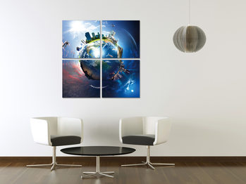 Globe from space Tableau Multi-Toiles