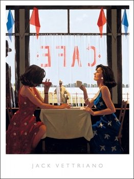 Jack Vettriano - Cafe Days Reproduction de Tableau