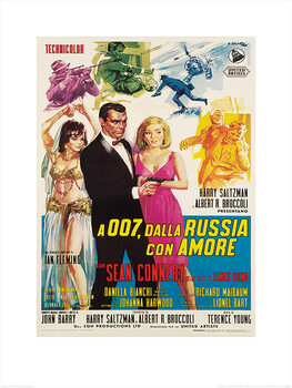James Bond - From Russia With Love - Sketches Reproduction de Tableau
