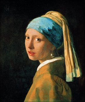 Jan Vermeer - Testa Di Fanciulla Reproduction de Tableau