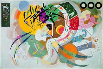 Kandinsky - Curva Dominante Reproduction de Tableau