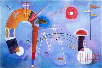 Kandinsky - Curva E Spigoli Reproduction de Tableau
