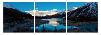 Lake in the shadow of the mountains Tableau Multi-Toiles