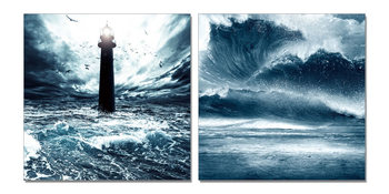 Lighthouse in storm Tableau Multi-Toiles