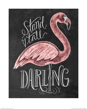 Lily & Val - Flamingo Reproduction de Tableau